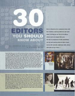 30 EDITORS PRESS